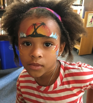 young girl face paint