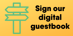 Sign our digital guestbook