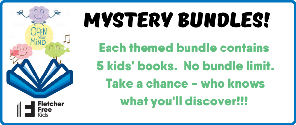 Mystery bundles! Each themed bundle contains 5 kids' books.  No bundle limit.  Take a chance - who knows  what you'll discover!!!