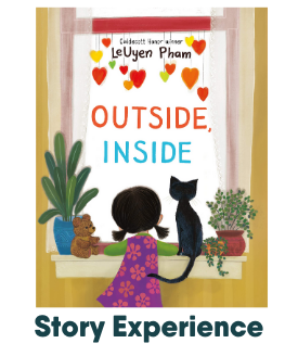 "cover of picture book titled ""outside, inside"" by leuyen pham"